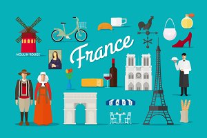 France vector collection