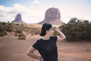Young woman in Monumet Valley