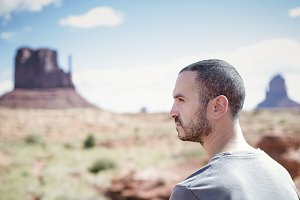 Man at Monument Valley