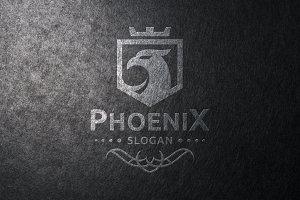 Crest Phoenix Logo Template