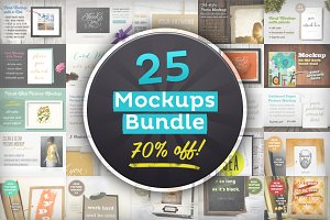 [-70%!] 25 Editable Mockups Bundle