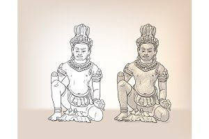 Drawing of Vishvakaman