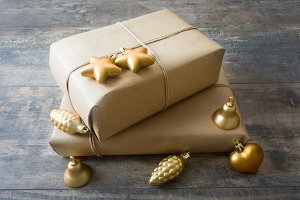 Rustic gift christmas boxes