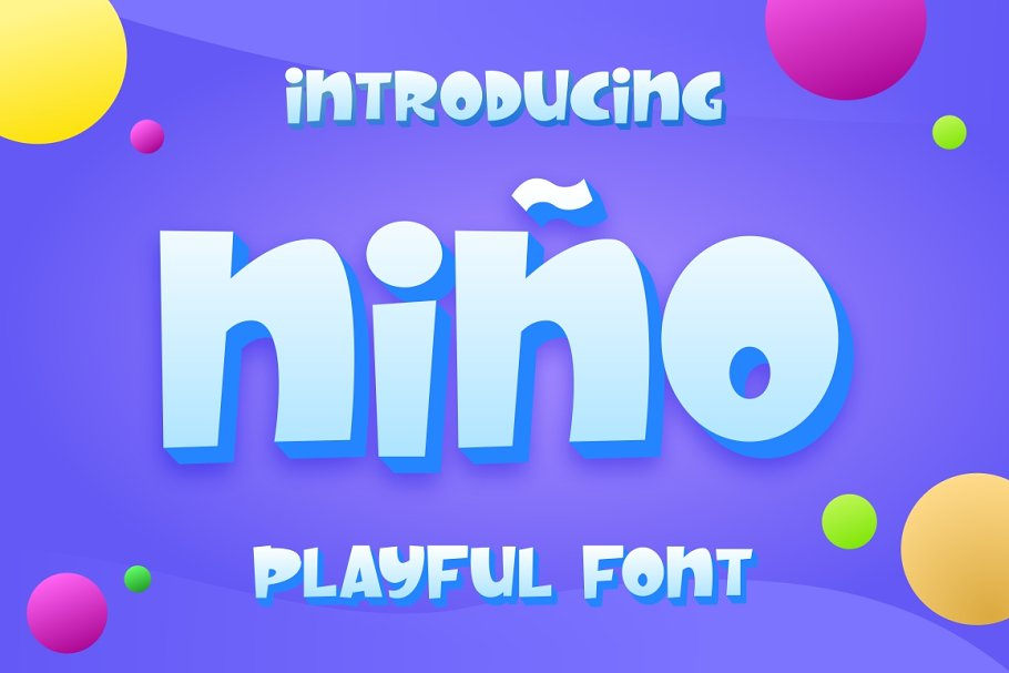 Nino Font For Kids & Fun Project