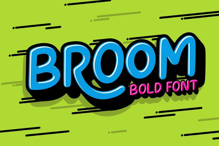 Broom Font For Kids & Fun project