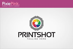 Print Shot Logo Template