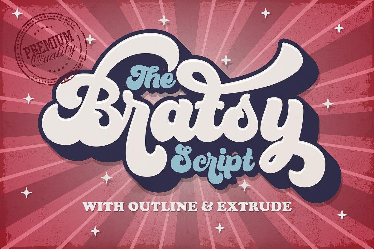 Bratsy - Retro Font