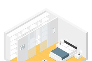 Bedroom isometric set