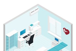 Cabinet cardiologist isometric room