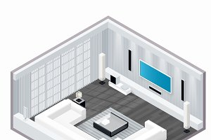 Living room isometric set