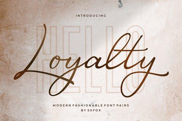 Loyalty Script Fonts