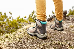 Hiking boots on trails