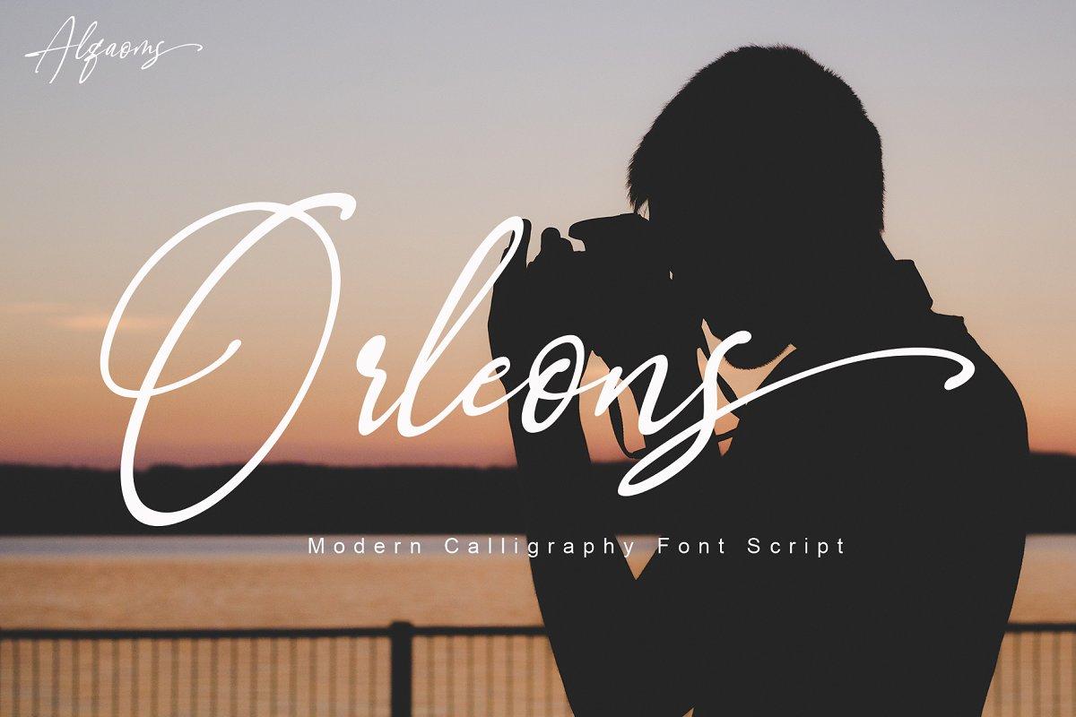 Orleons in Script Fonts