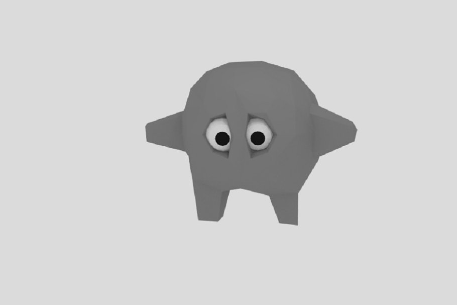 Low Poly Stone Character
