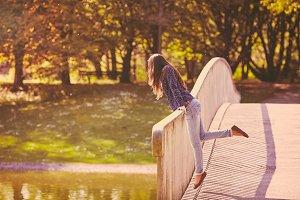 Girl having fun in park