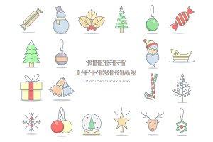 Christmas line icon.