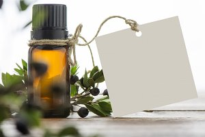 essential oil, and blank tag