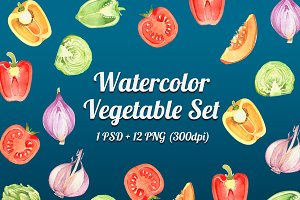 VEGETABLE WATERCOLOR SET