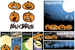 Happy Halloween template bundle