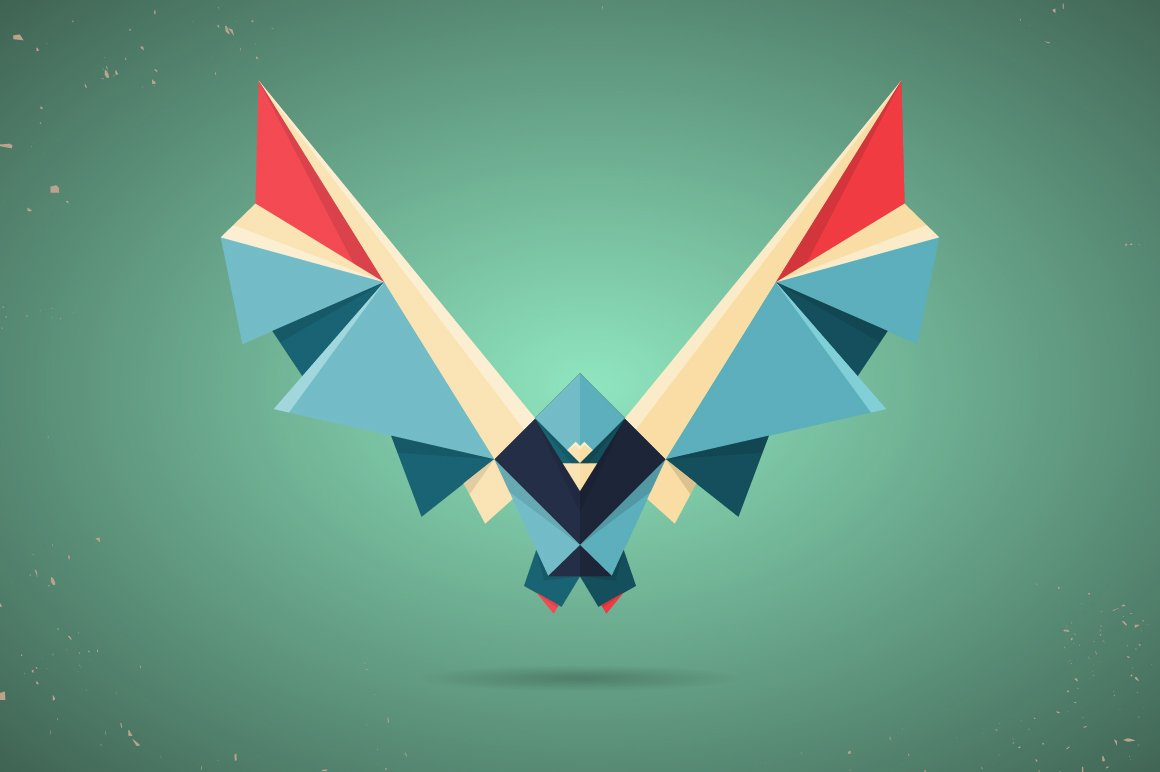 Colourful origami pigeon or dove ~ Illustrations ... - photo#6
