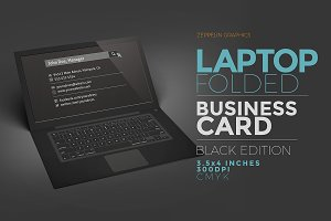 Laptop Business Card Black Edition