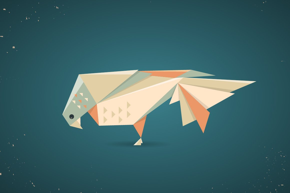 Colourful origami pigeon or dove ~ Illustrations ... - photo#13