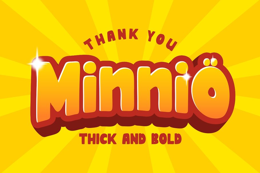Minnio Cartoon Font for kids product