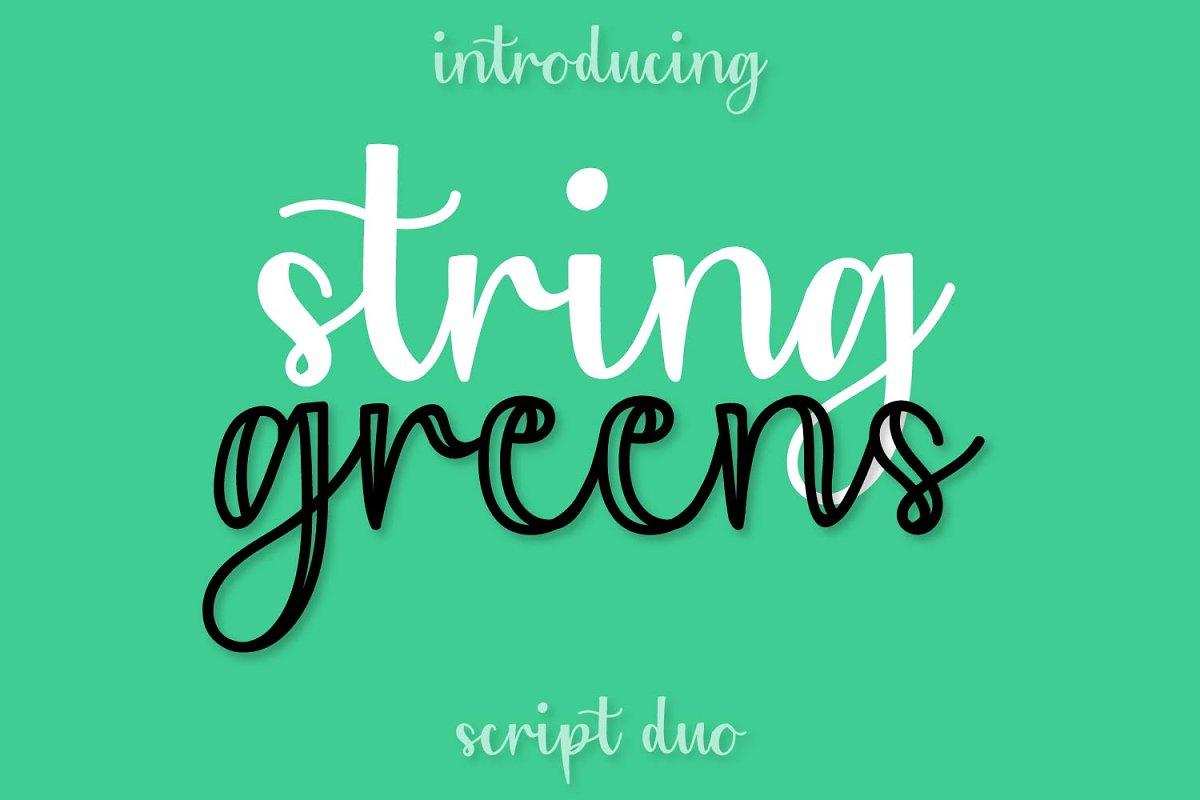 String Greens - A Script Duo