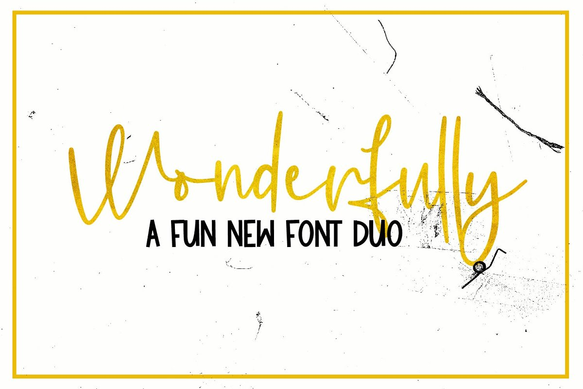 Wonderfully - A Font Duo