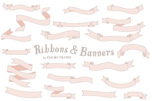 20 Vector Ribbons & Banners