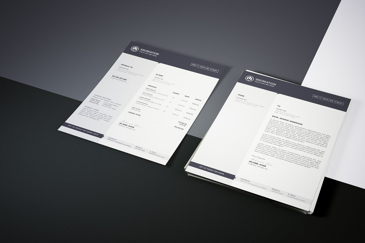 Invoice and Letterhead Package