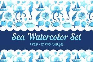 SEA WATERCOLOR SET