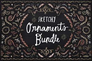 Sketchy Ornaments Vector Bundle