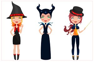 Cute Halloween Witches