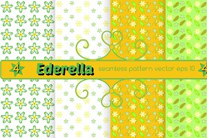 Set of 4 seamless vector pattern