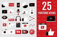 25 YouTube Icons