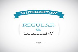 WideDisplay Regular&Shadow