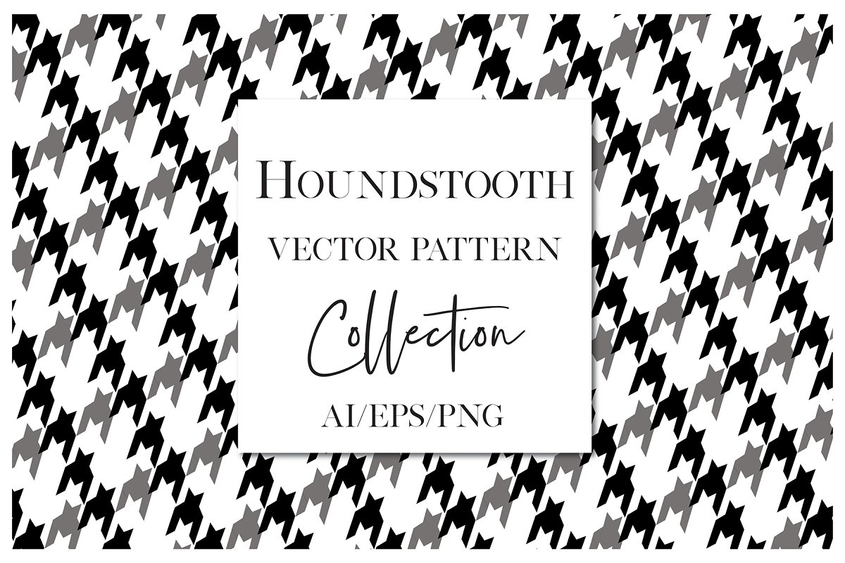 Vector Houndstooth Plaid Patterns