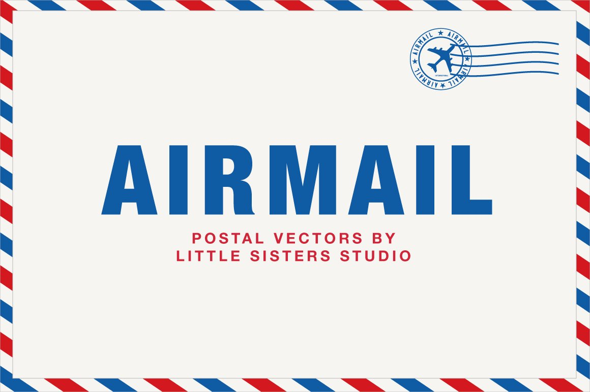 airmail illustrations creative market