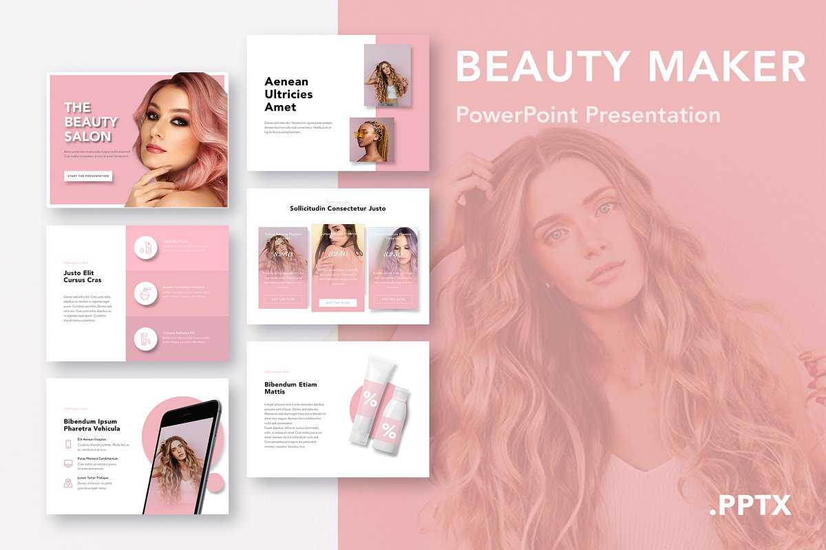 Beauty Maker Powerpoint Template Powerpoint Templates