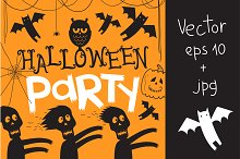 Halloween party Vector eps 10