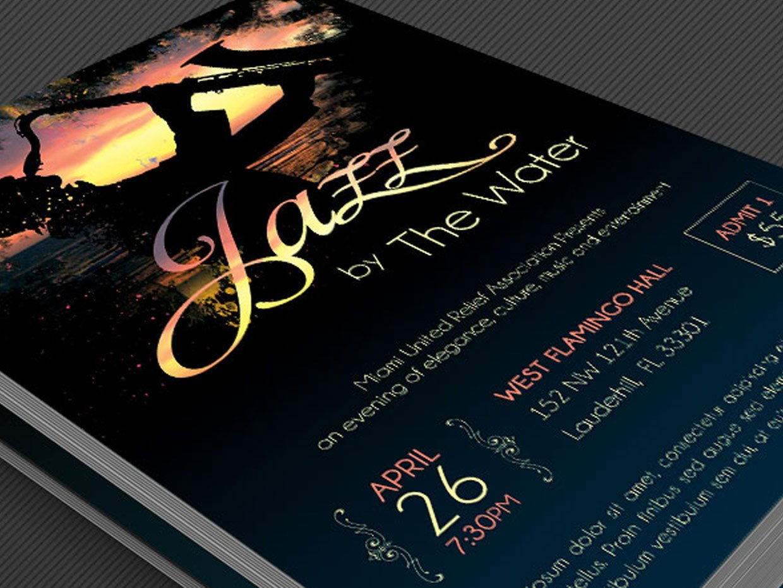 Jazz Concert Flyer Template Flyer Templates Creative Market