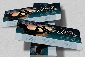 Jazz Concert Event Ticket Template