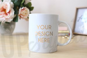 F167 White Coffee Mug Mock Up