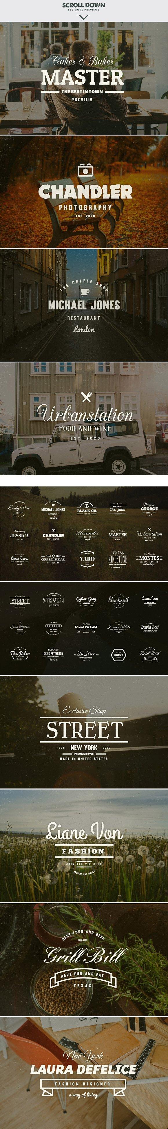 massive bundle 576 vintage logos logo templates on creative market