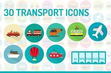 30 Transport Icons