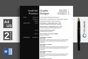 Black White Elegant Resume / CV