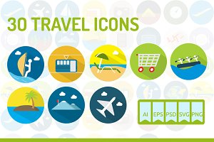 30 Travel Icons