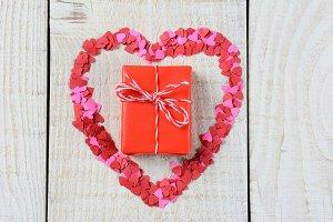 Gift Inside Heart Shape