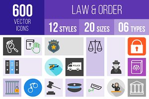 600 Law & Order Icons
